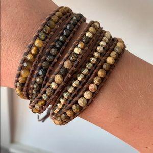 Brown & Gold Chan Luu Wrap Bracelet
